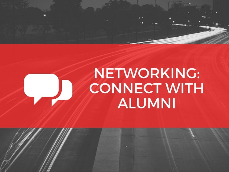 networking to connect with alumni