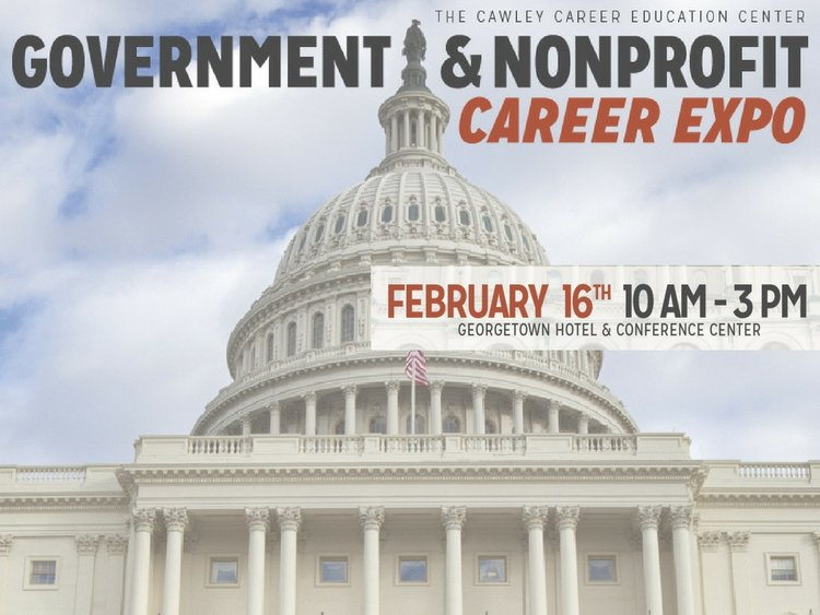 government and nonprofit career expo february 16th 10am to 3pm