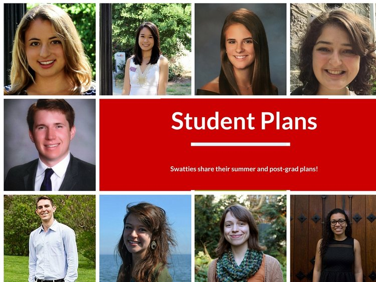 student plans of swatties at internships and full-time opportunities