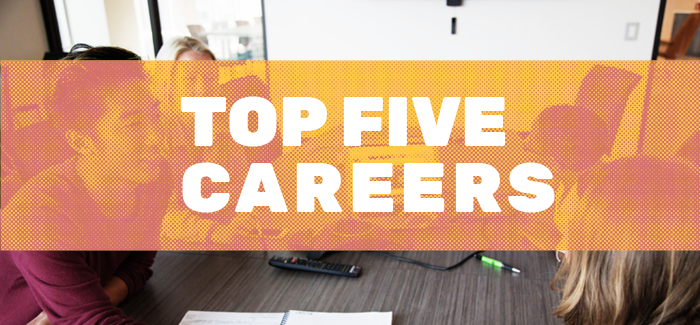 Campus Philly Top Five Careers Picture