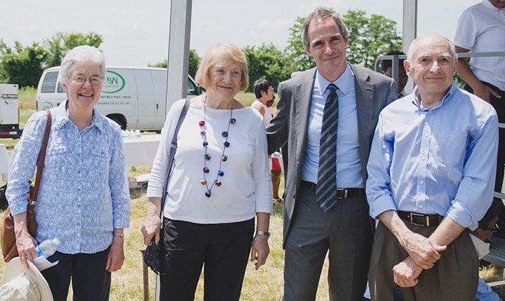 Carol Hopkins, Hevdah Shuchman, Salem Shuchman '84, and Ray Hopkins, Emeritus Professor of Political Science
