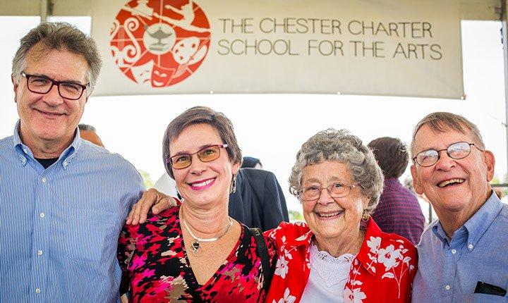 Joe Turner '73 and Lana Turner '74, with friends, Peggy Thompson and Pete Thompson, Emeritus Professor Chemistry