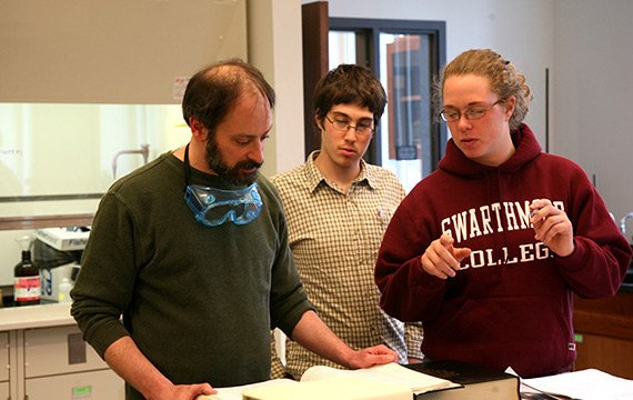 Faculty-student collaboration is an integral part of the undergraduate experience in Chemisty and Biochemistry at Swarthmore.