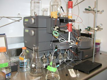 One AKTA Basic and two units of AKTA Prime:  High quality liquid chromatography system for protein purification.