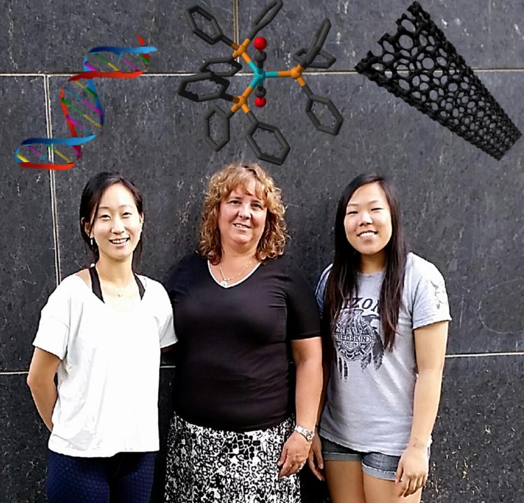 Linda Lee '18, Professor Porello,  Elise Kim '18