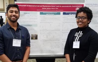 MARM Conference, Hershey, PA June 2017. Arka Rao ' 18 and Laela Ezra '19