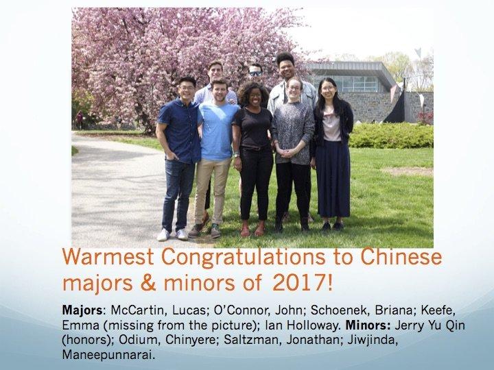 Majors and Minors 2017