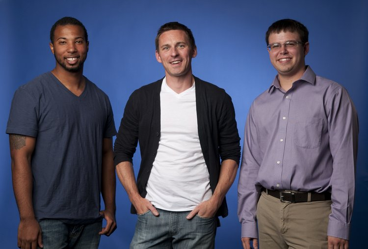 Darryl Hester, Chris and Zeke Cole during the first summer research session.