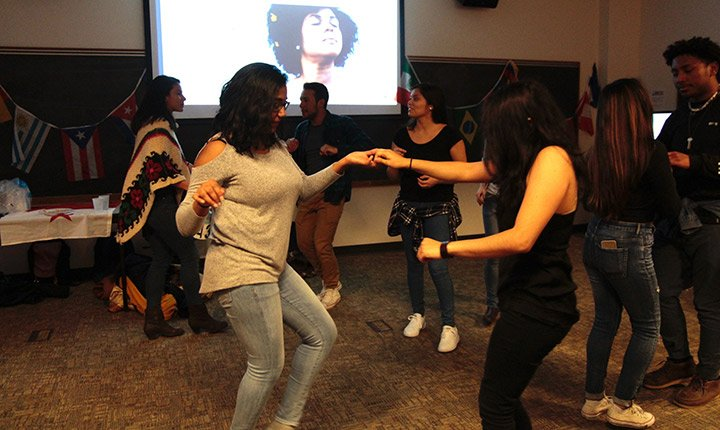 Students learn cultural dance moves