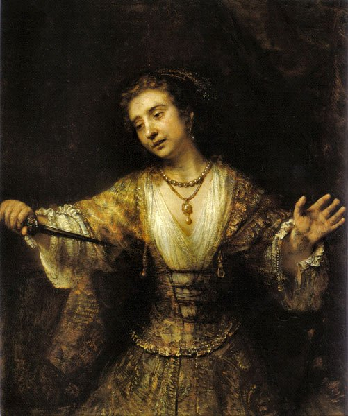 rembrandt, lucretia