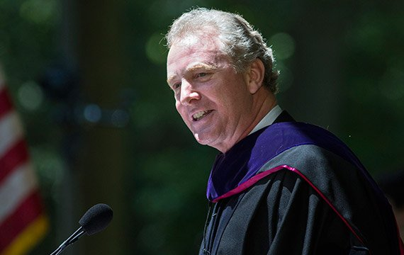 Honorary degree recipient Christopher Van Hollen '83