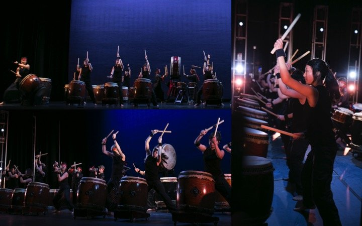 Taiko Drums with performers