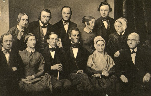 Photograph of the Executive Committee of the Pennsylvania Anti-Slavery Society, 1851