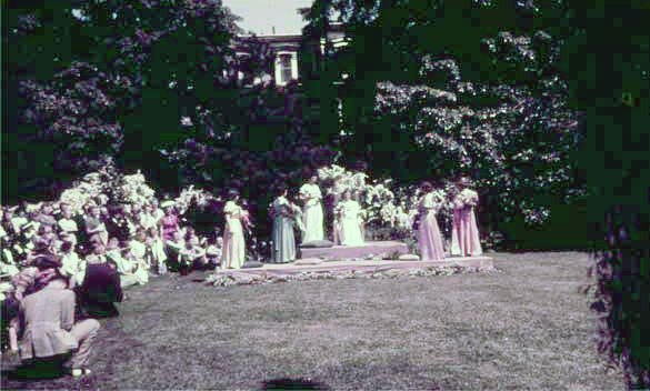 Film of the crowning of the May Queen in 1940