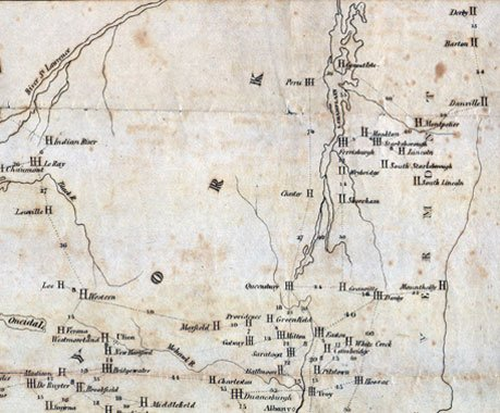 Northeast section of Ricketson map
