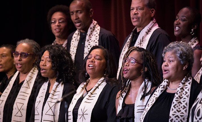 Alumni Gospel Choir performing