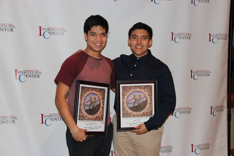 Winners of awards at IC dinner
