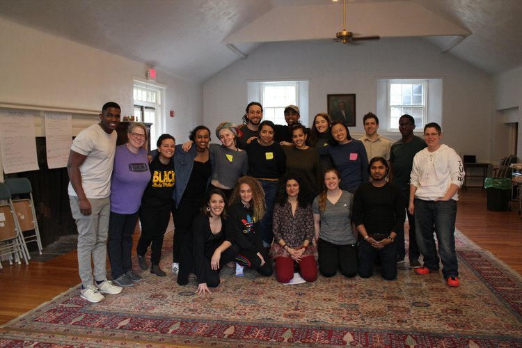 Group of students, staff, and community members at workshop