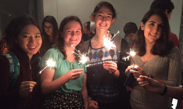 Students celebrate Diwali