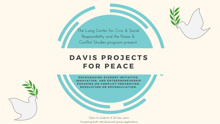 Davis Projects for Peace Poster