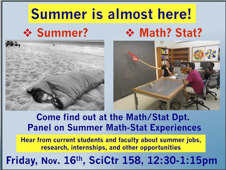 math/stat summer pannel