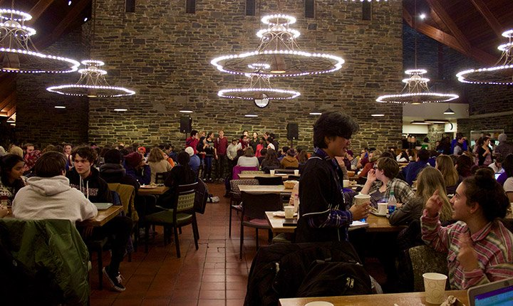 Sharples is crowded during midnight breakfast