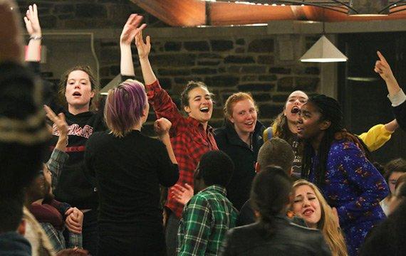 Students during primal scream