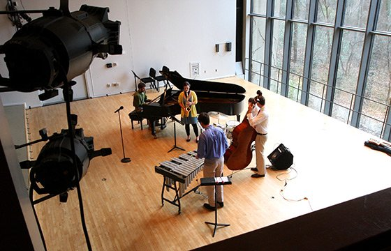 Jazz Combo rehearsal in Lang Concert Hall