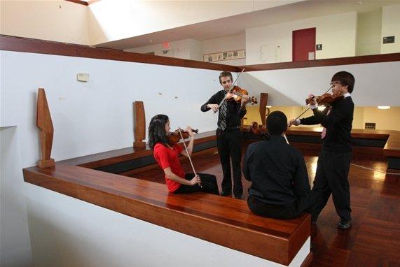 Chamber music in lobby