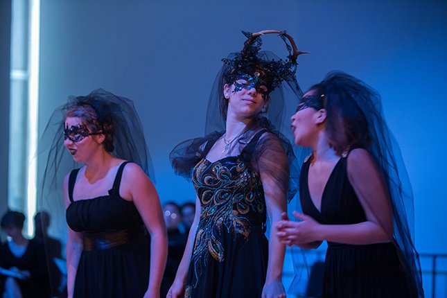 "Three students portray witches in ""Dido and Aeneas"""