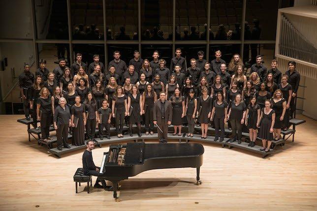 The Swarthmore College Chorus with director Joseph Gregorio