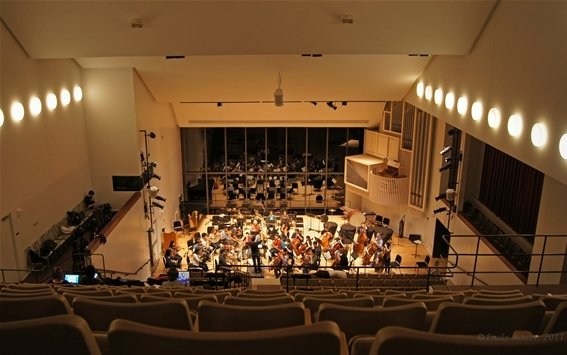Orchestra rehearsal in Lang Concert Hall