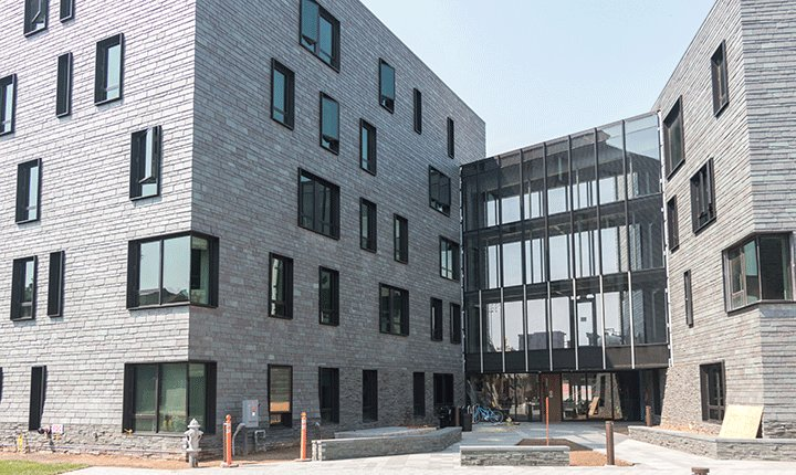 An exterior view of the new PPR Apartments