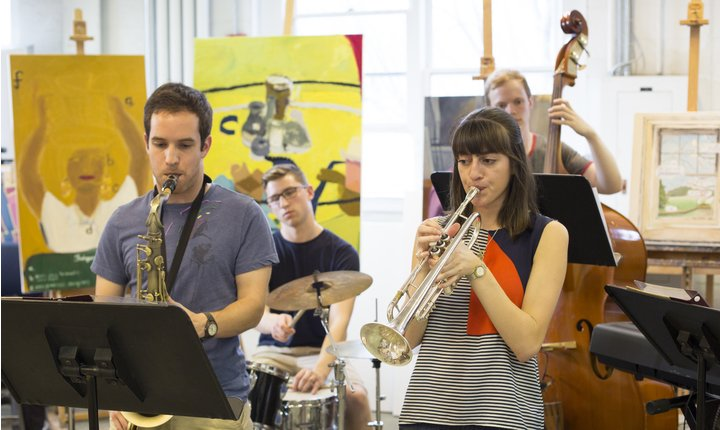 Student jazz band