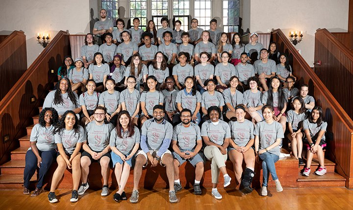 First-generation college students pose for photo in Tarble