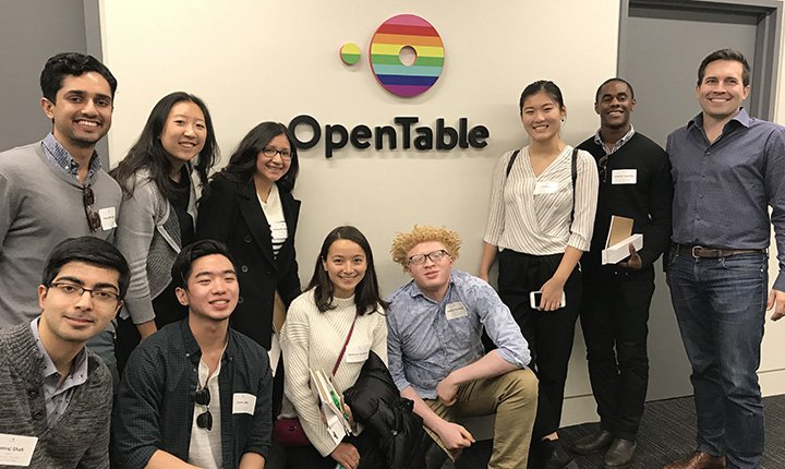 Swarthmore students at OpenTable.