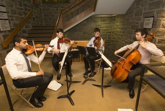 Quartet performs at Swarthmore's 150th birthday party