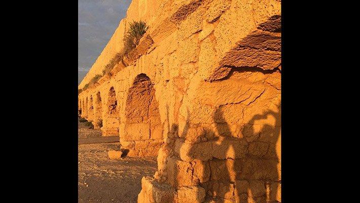 Roman aqueduct at Caesarea, Israel