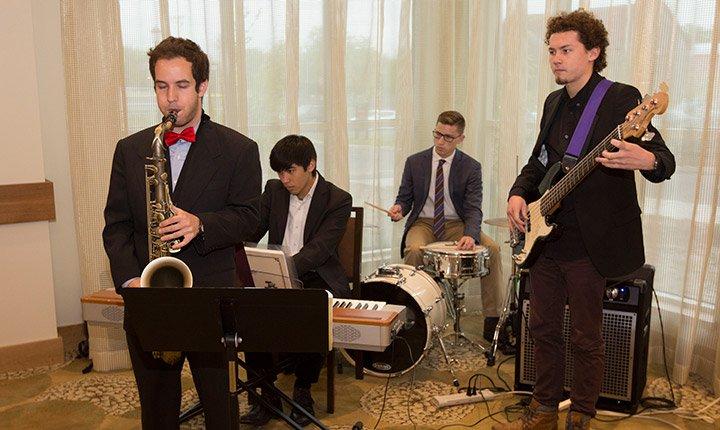 Student musicians perform