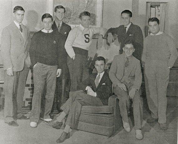 Eugene Lang and debate board
