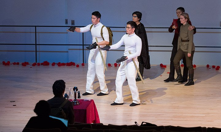 Students perform at a dress rehearsal