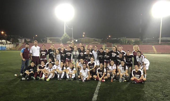 Women's soccer match in Costa Rica