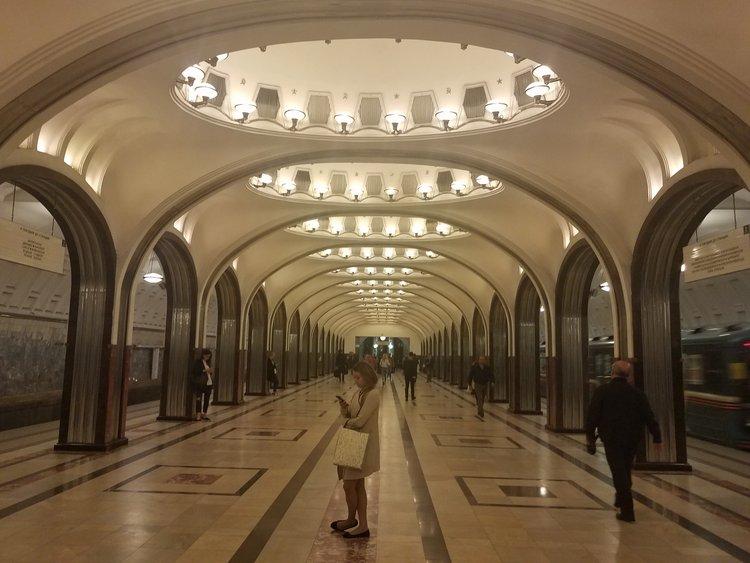 Mayakovskaya Station in Moscow