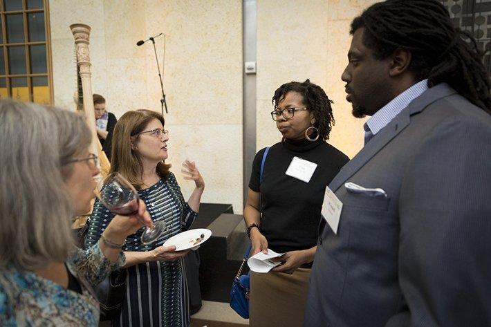 Alumni speak at the Philadelphia event