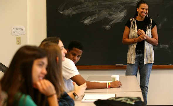 Professor Yvonne Chireau teaching a class