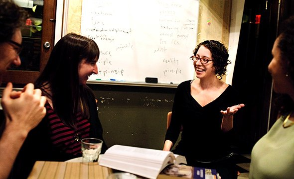 Abby Kluchin '03 teaching a course at the Brooklyn Institute for Social Research