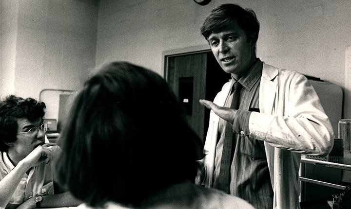 Robert Savage in the classroom