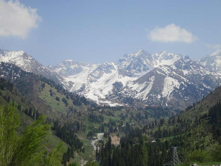 Tian Shan Mountains in Spring, Almaty, Kazakhstan