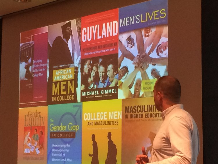 Keith Edwards presents about masculinity