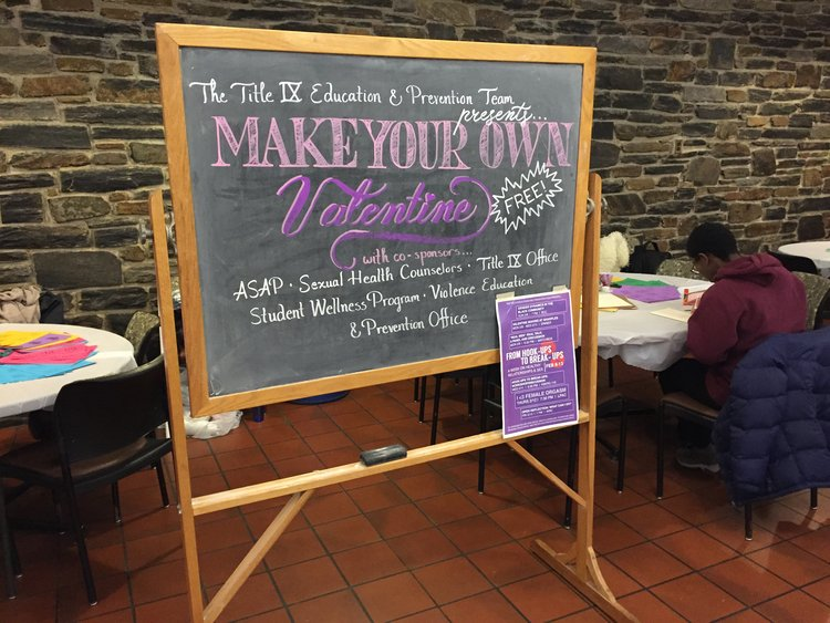 Chalkboard for Consent Valentines